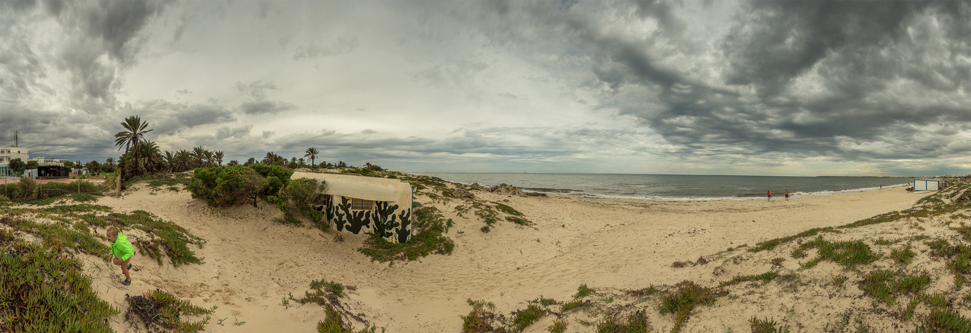 Bunkr na tuniském pobřeží ...