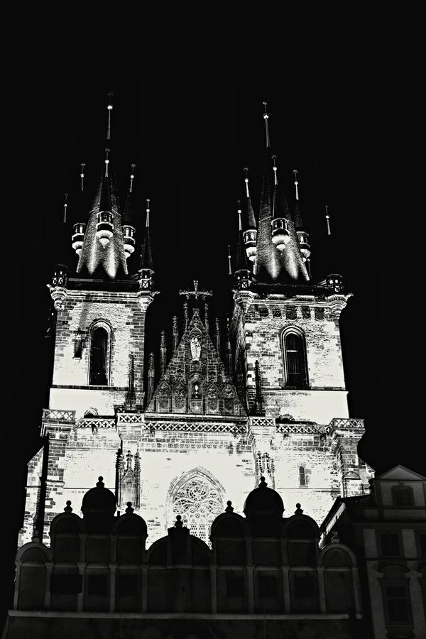 Týnský chrám - noční foto