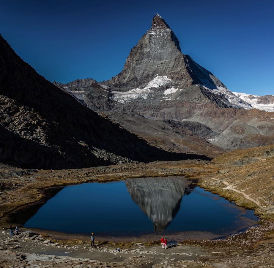 Zrcadlící se Matterhorn