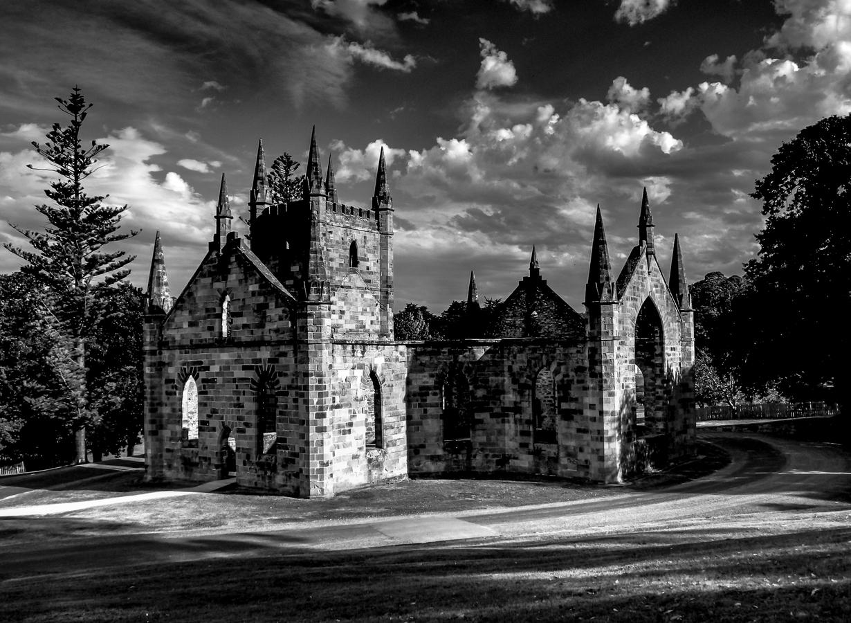 Port Arthur's Convict Church, Tasmánie, Austrálie