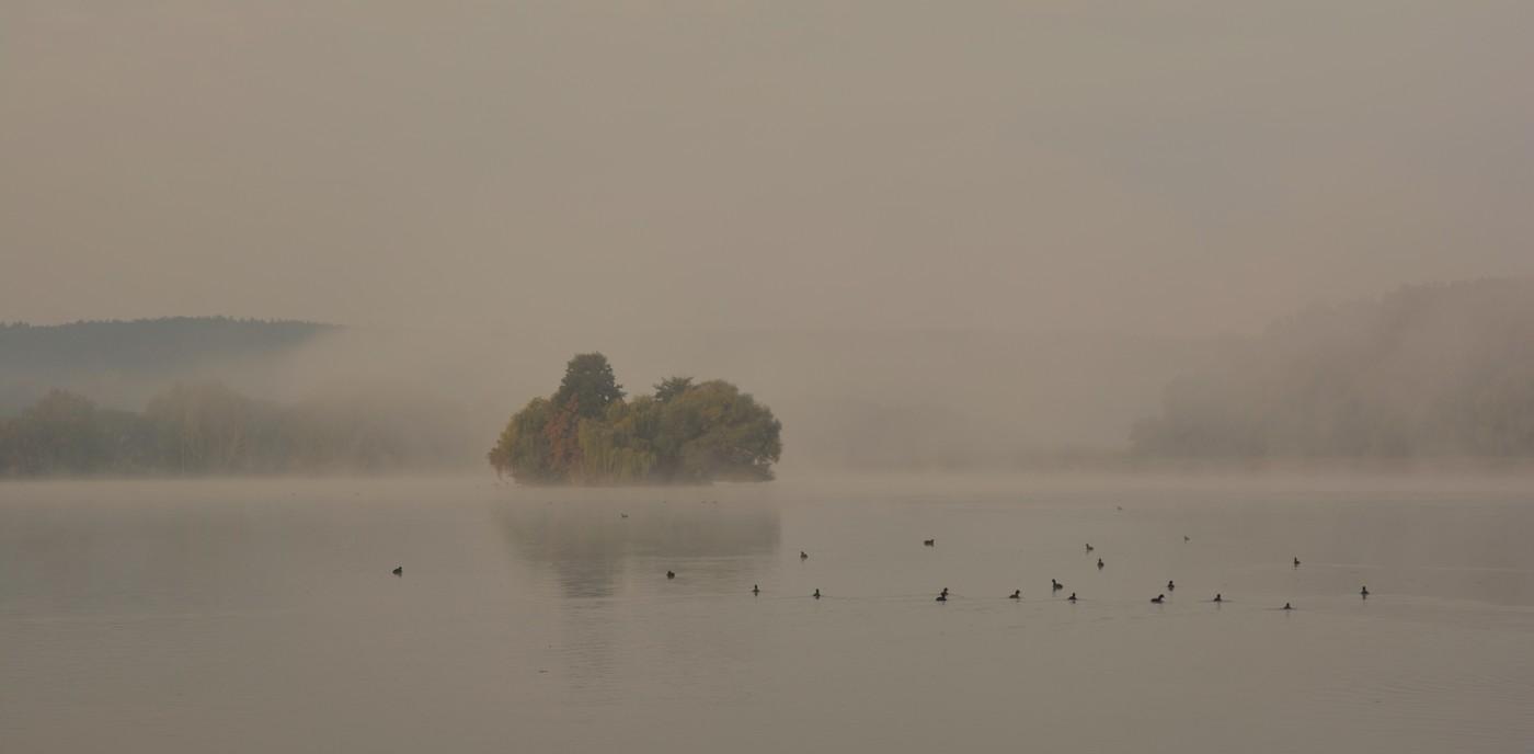 Opar nad Horeckým rybníkem.