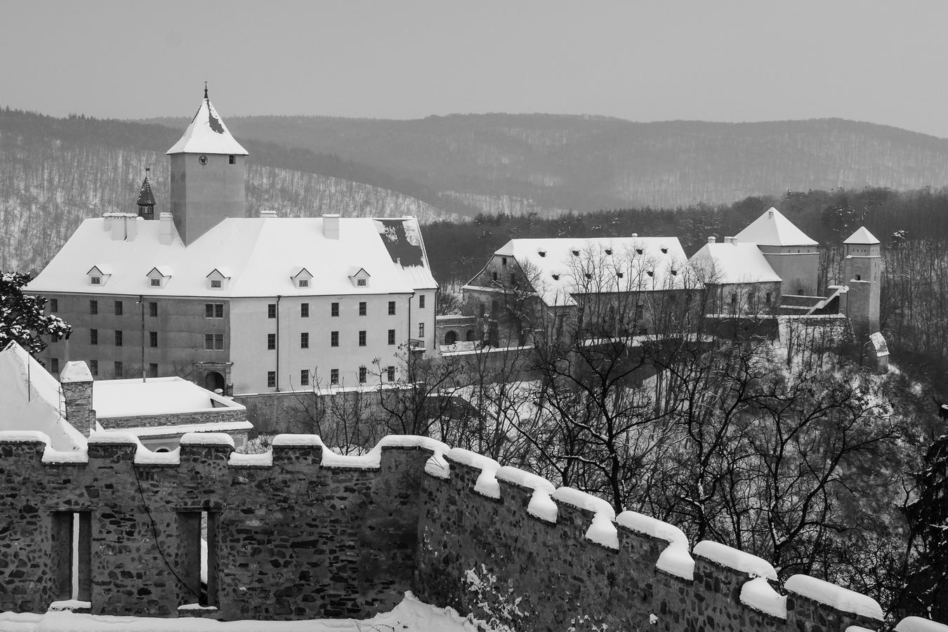 Hrad Veveří v zimě