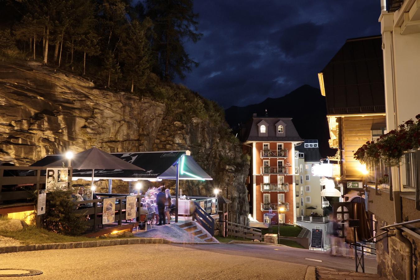 Bad Gastein - Rakousko, po setmění