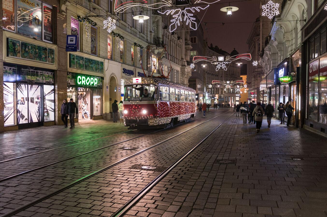Speciální vánoční tramvaj