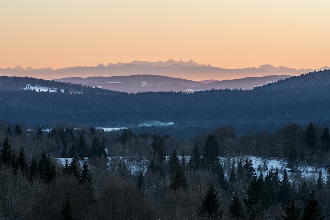 Alpy ze Šumavy.