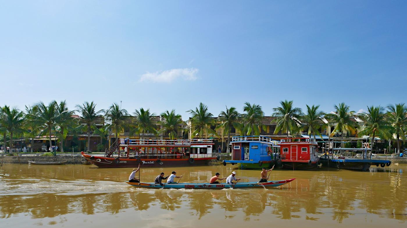 Na řece Thu Bon ve městě Hoi An