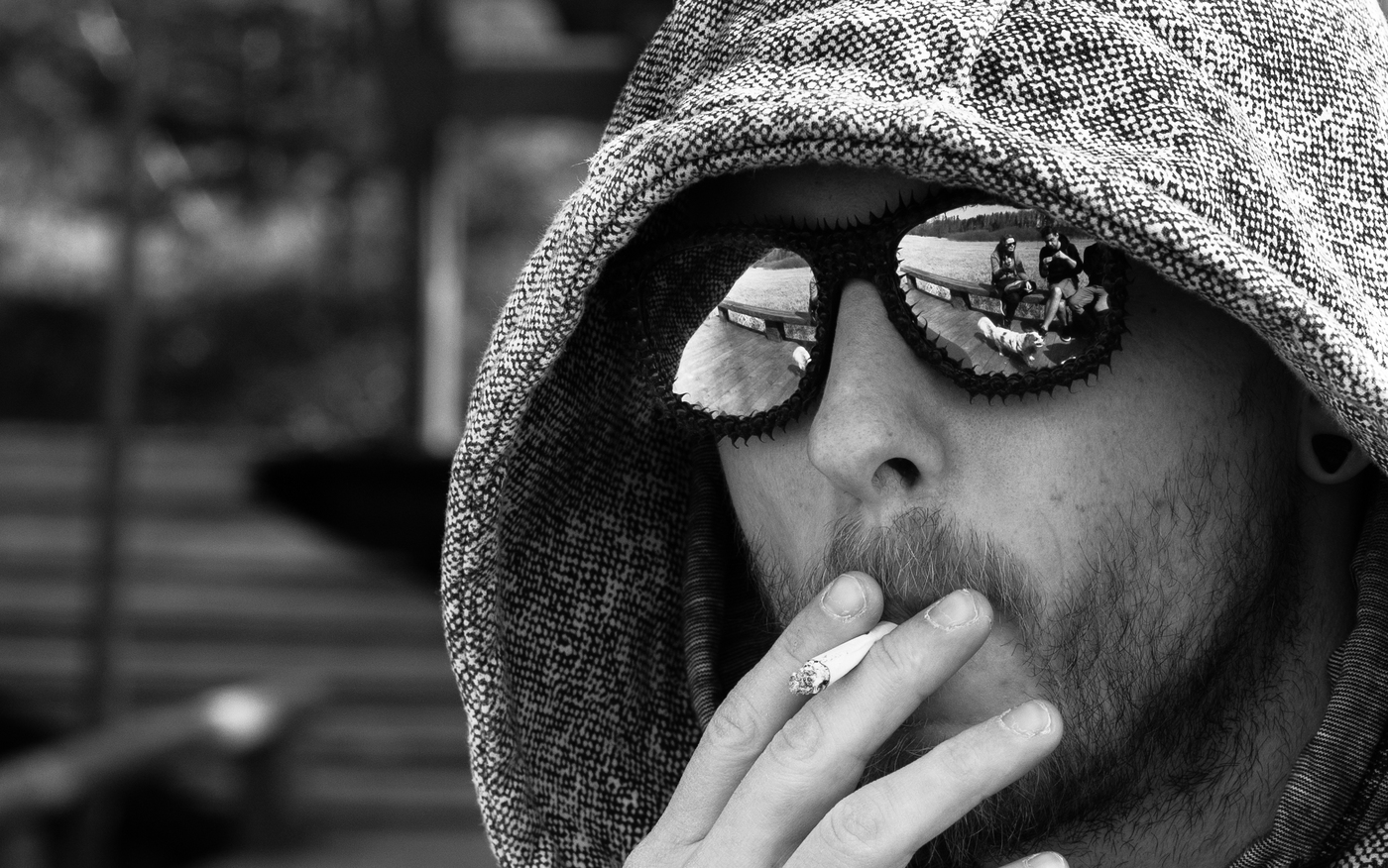 Noob s cigaretou