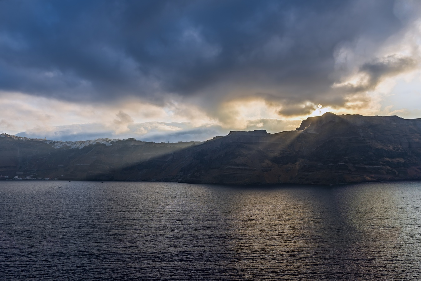 Ráno u Santorini
