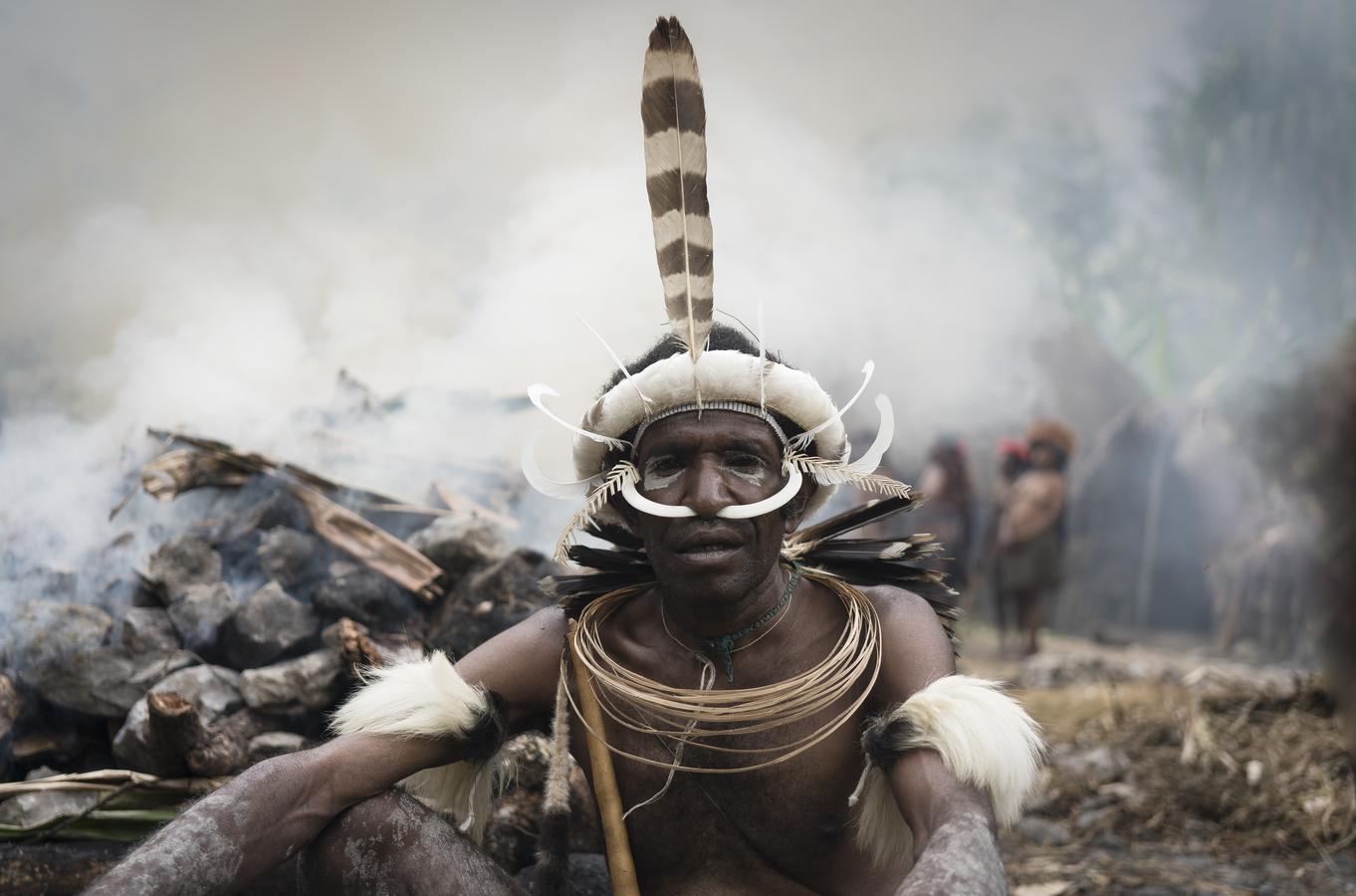 Muž z kmene Dani, Západní Papua