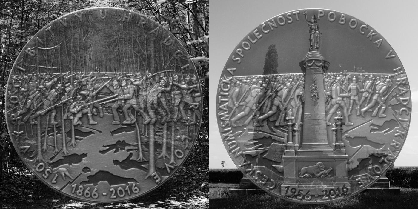 Medaile na 150. výročí bitvy u Hradce Králové