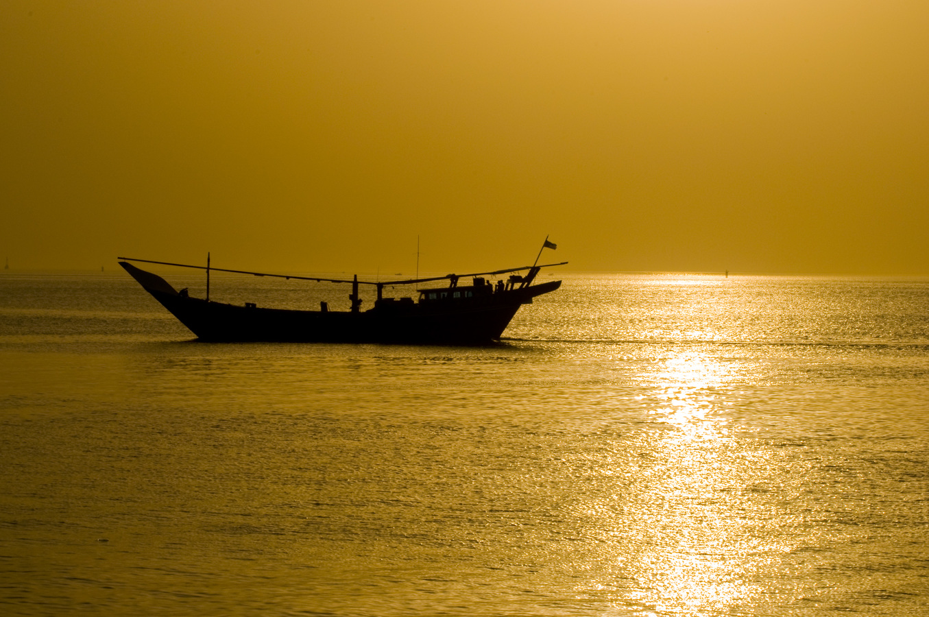 Západ slunce nad Perským zálivem