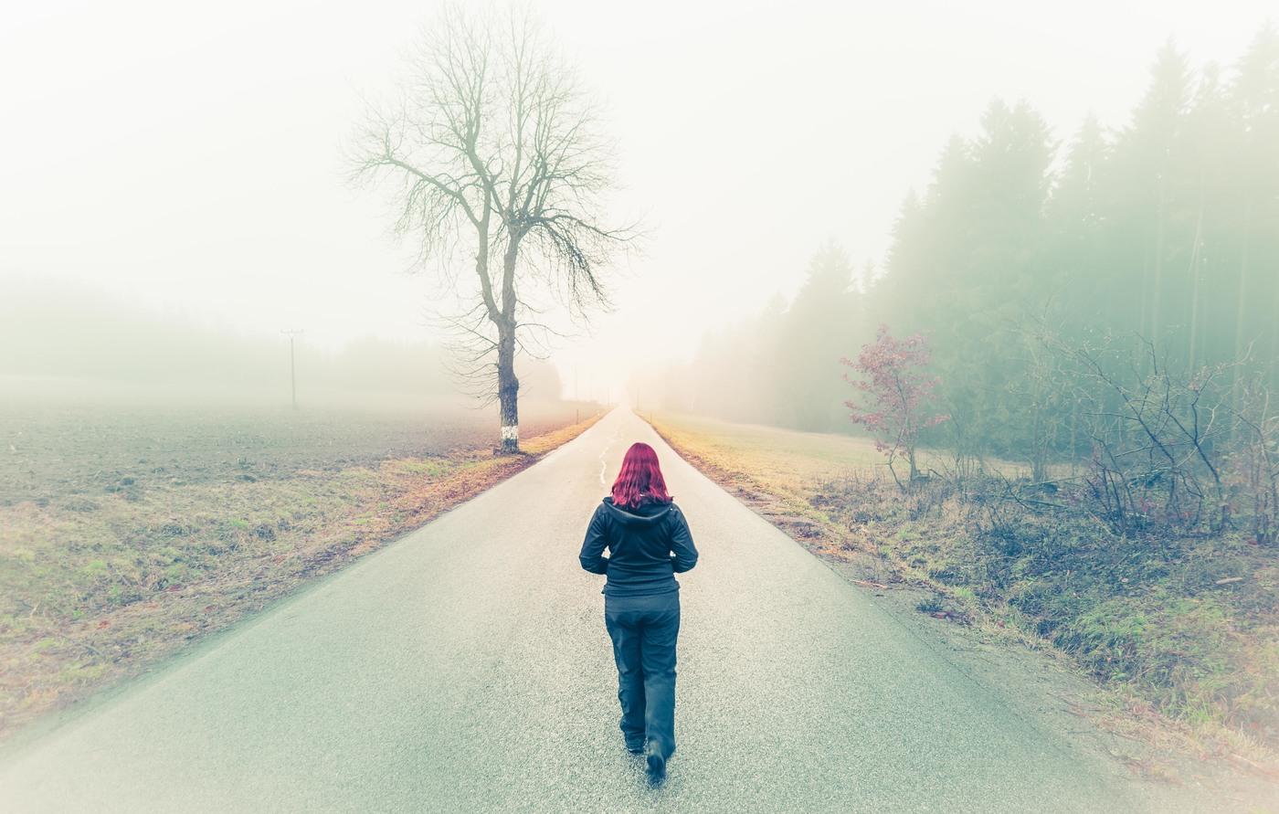 Cesta mlhou
