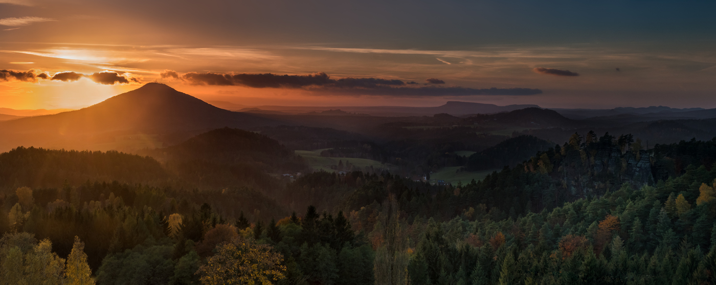podzim v Českosaském Švýcarsku