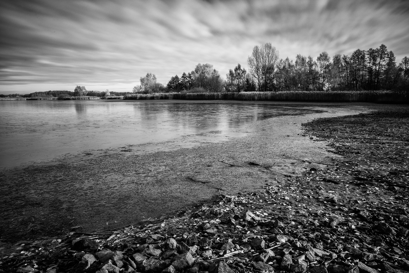 Bohdanečský rybník na podzim