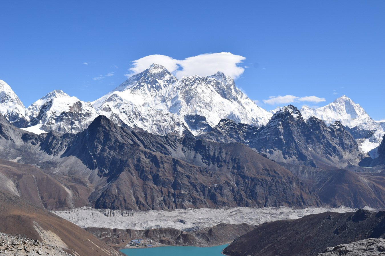 Mount Everest z Renjo La.