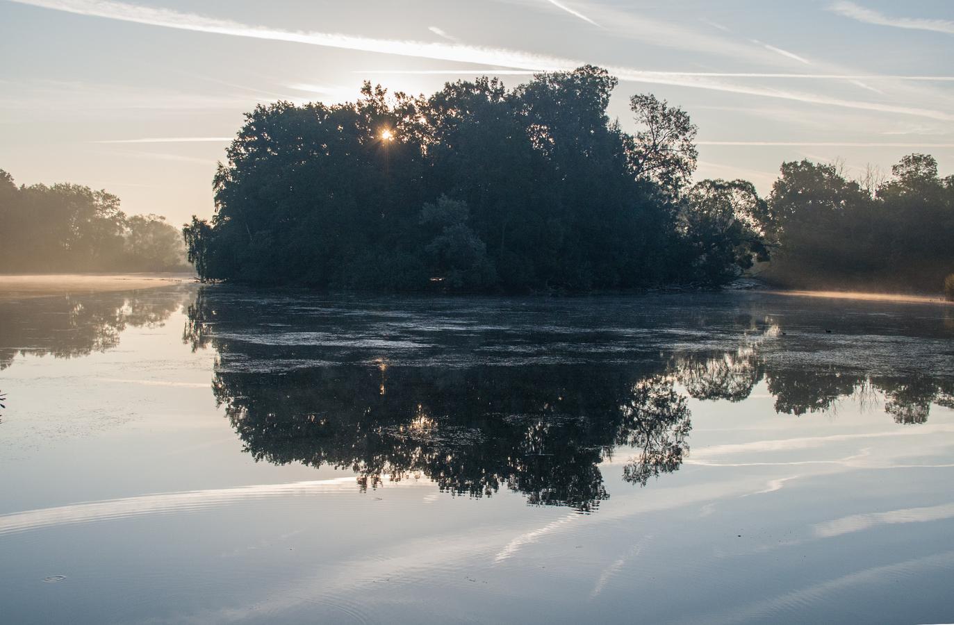 oparované ránko na milotickém rybníku