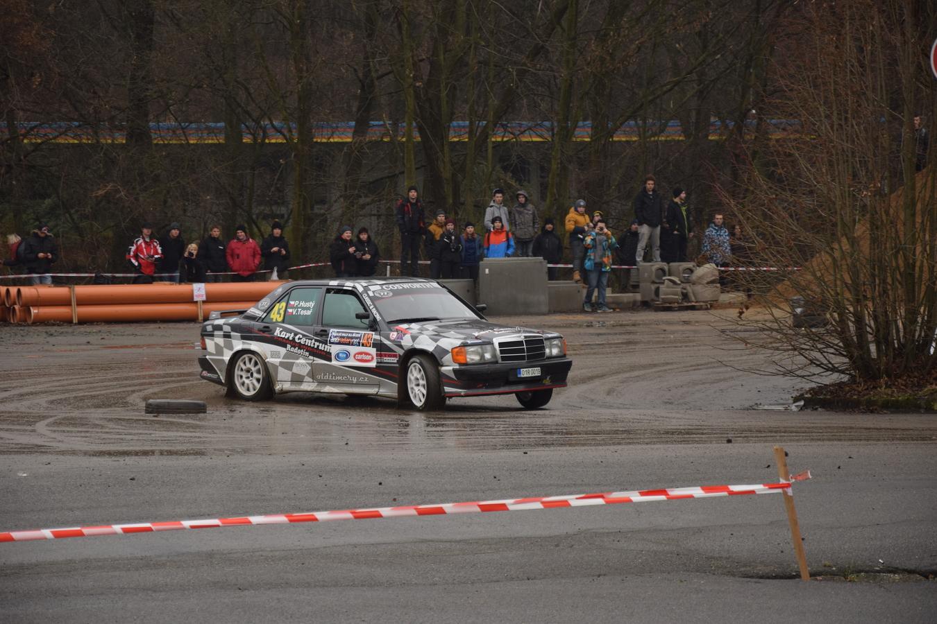 Mercedes na Mikuláš rally Slušovice