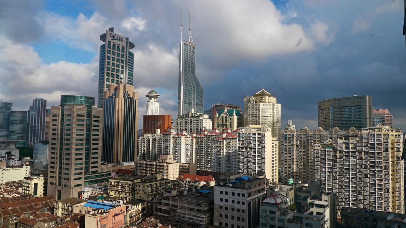 Šanghaj z okna hotelu Bund