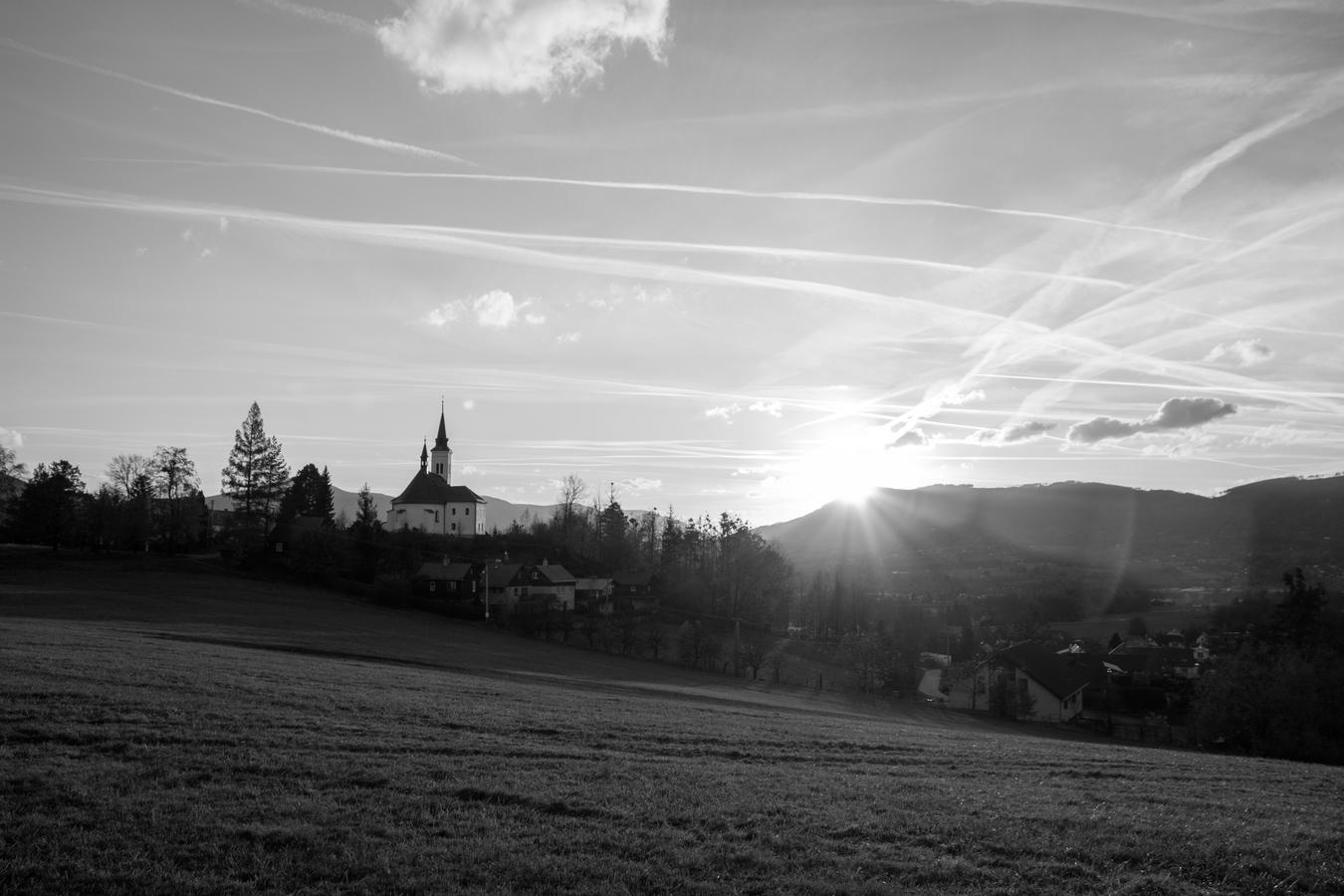 Západ slunce v Malenovicích