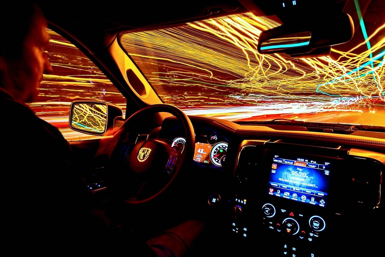 noční jízda