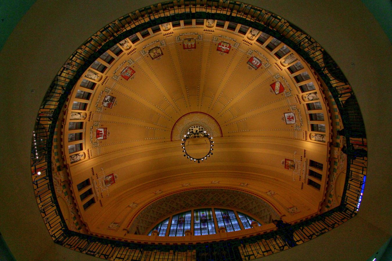 Secesní strop Hlavního nádraží