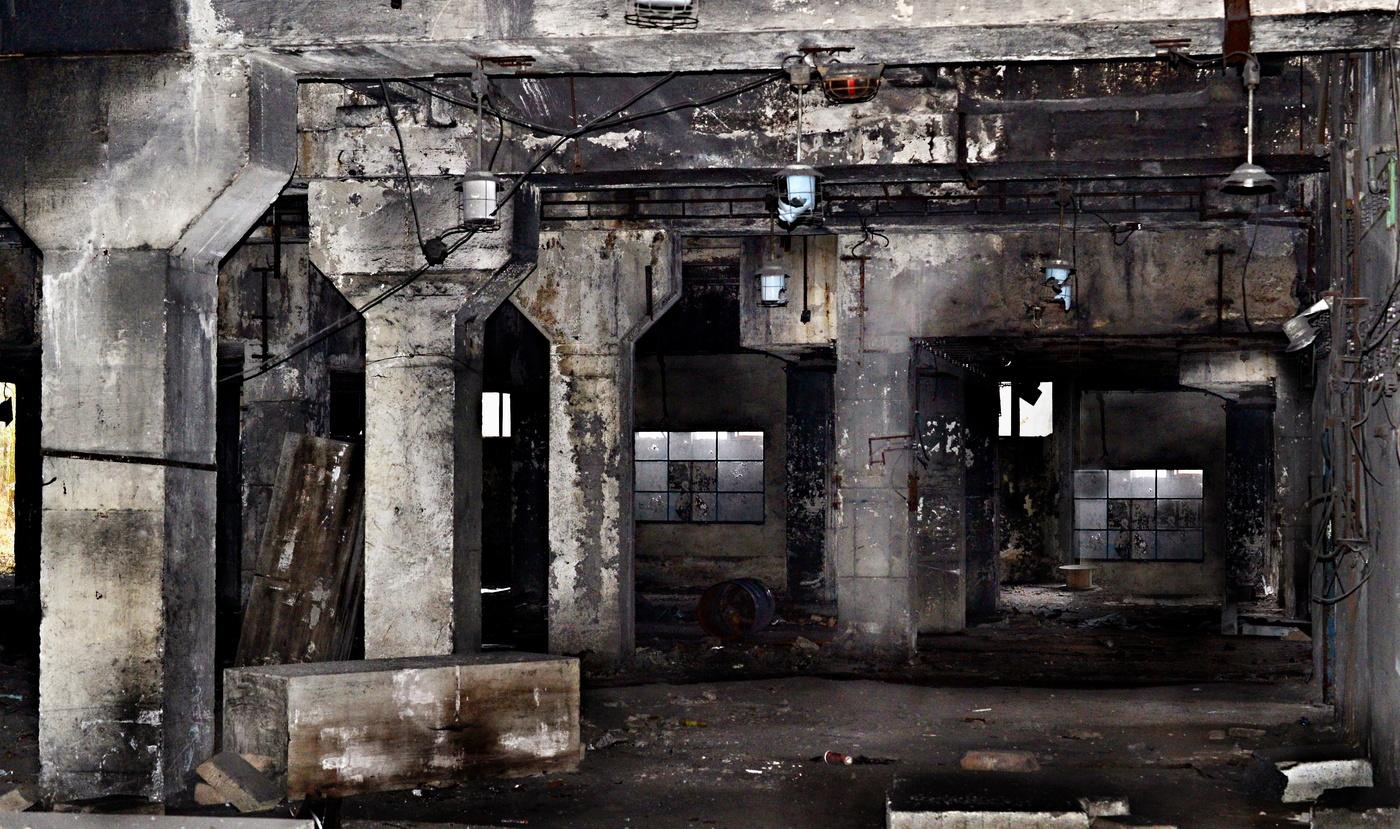Továrna po letech