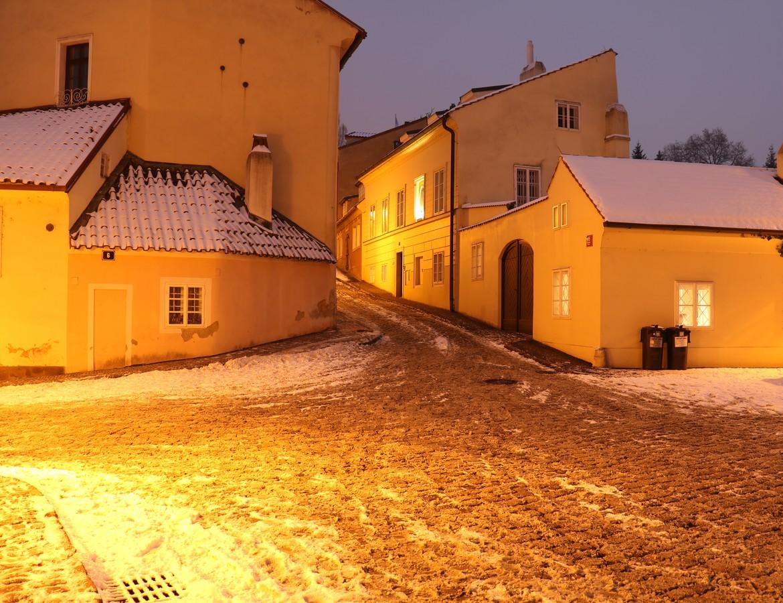 Zimní podvečer na Novém světě
