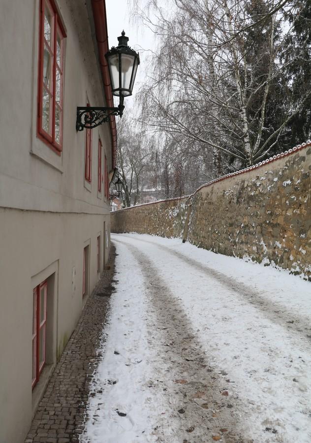 Zimní zákoutí v Praze