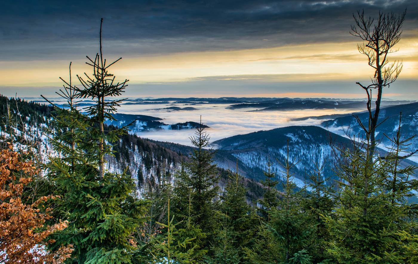 Podvečer na Lysé hoře