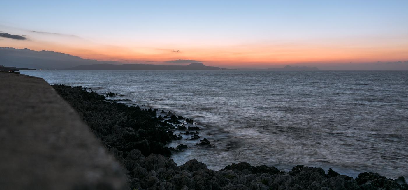 Západ slunce v Rethymnu