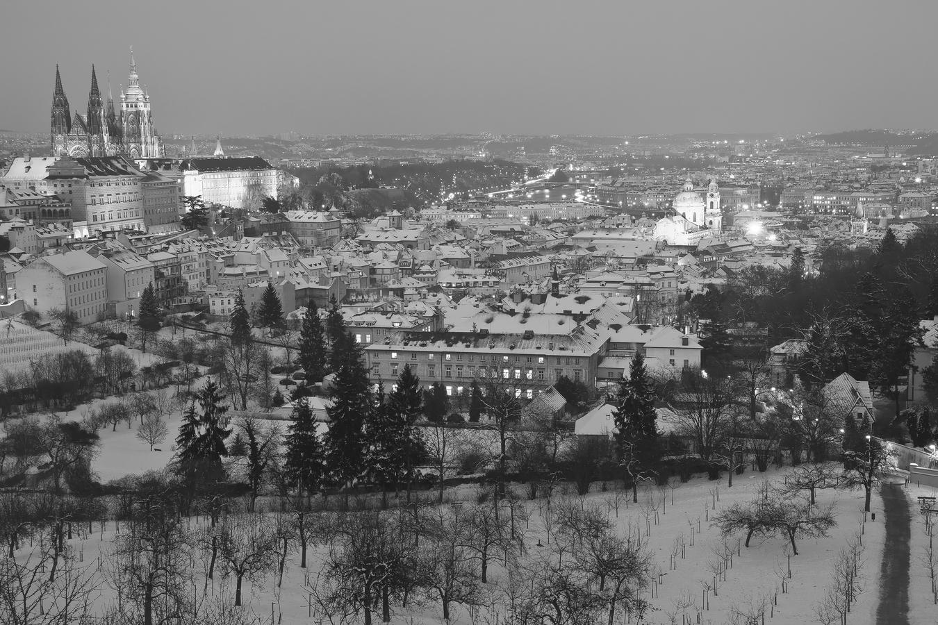 Vyhlídka od Strahovského kláštera