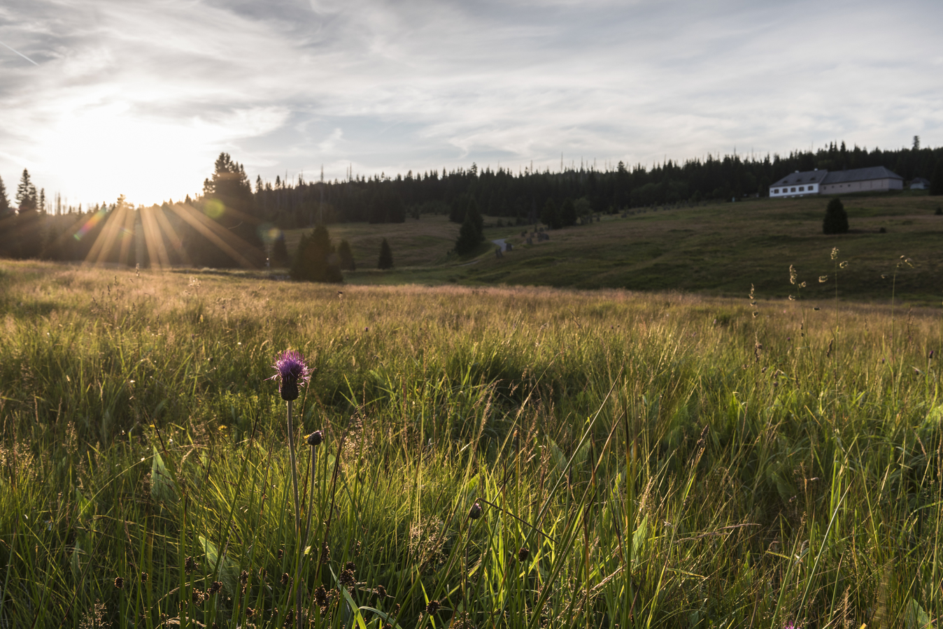 západ slunce nad Březníkem