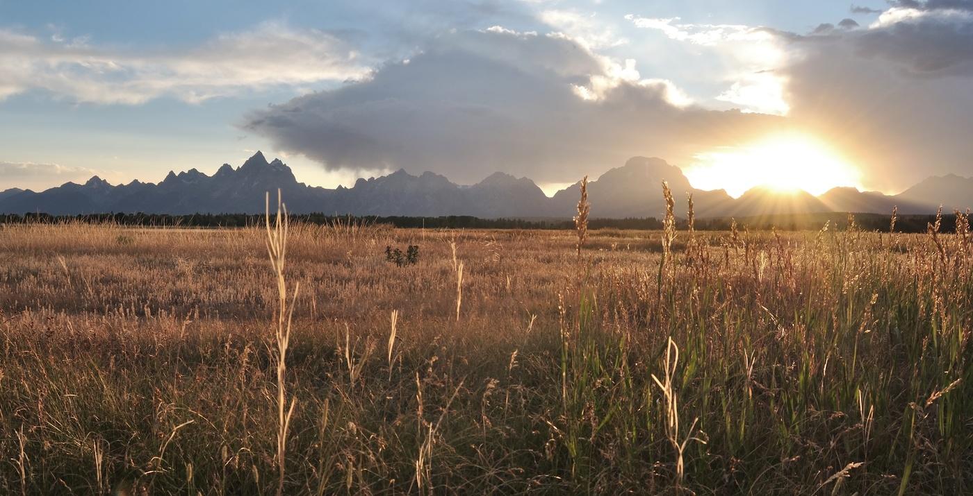 Západ slunce v Grand Teton