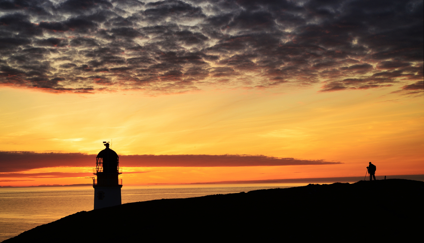Rua Reidh Lighthouse - Waiting for Sundown