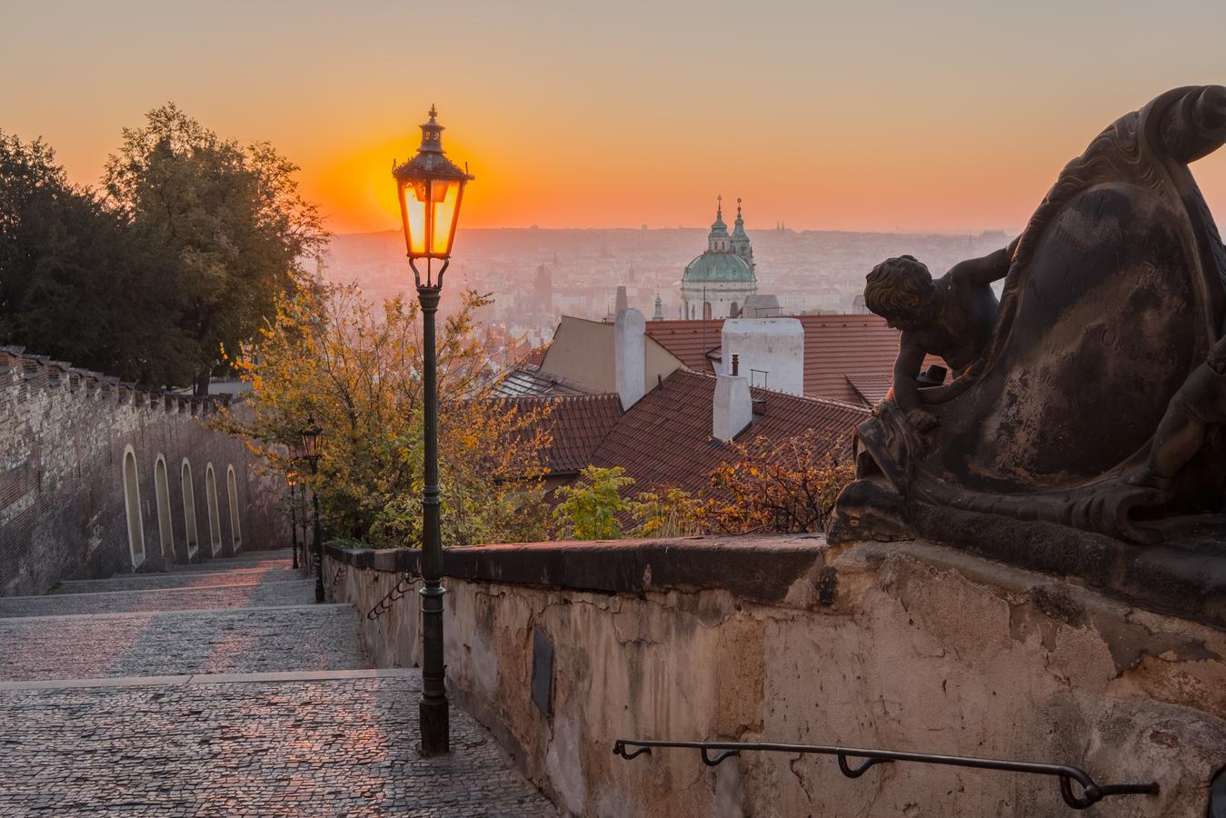 Podzimní ráno v Praze
