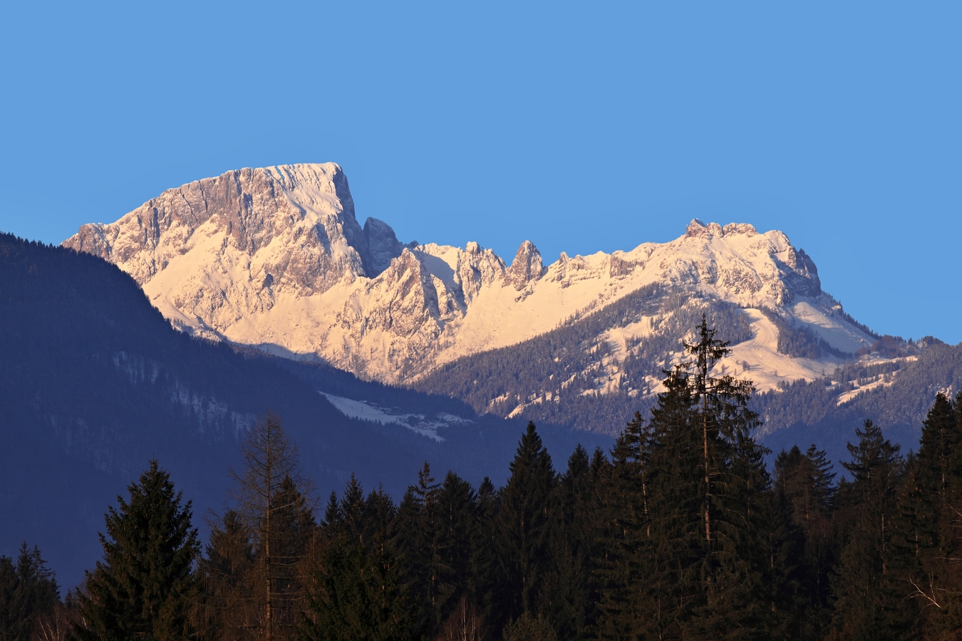 ranní Alpy