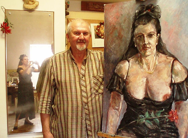 Malíř, jeho dílo a fotografka :-)