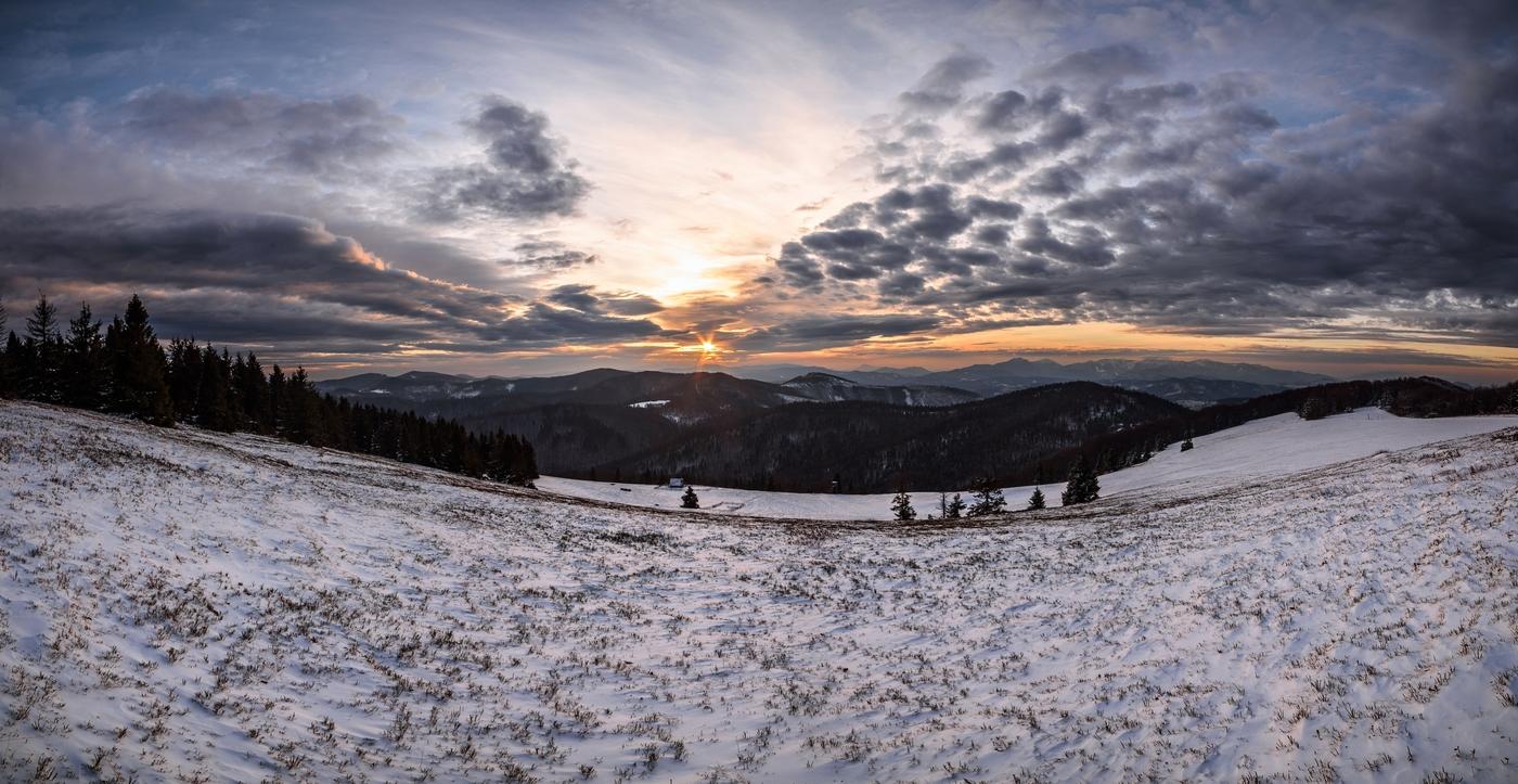 Východ slunce nad Slovenskem