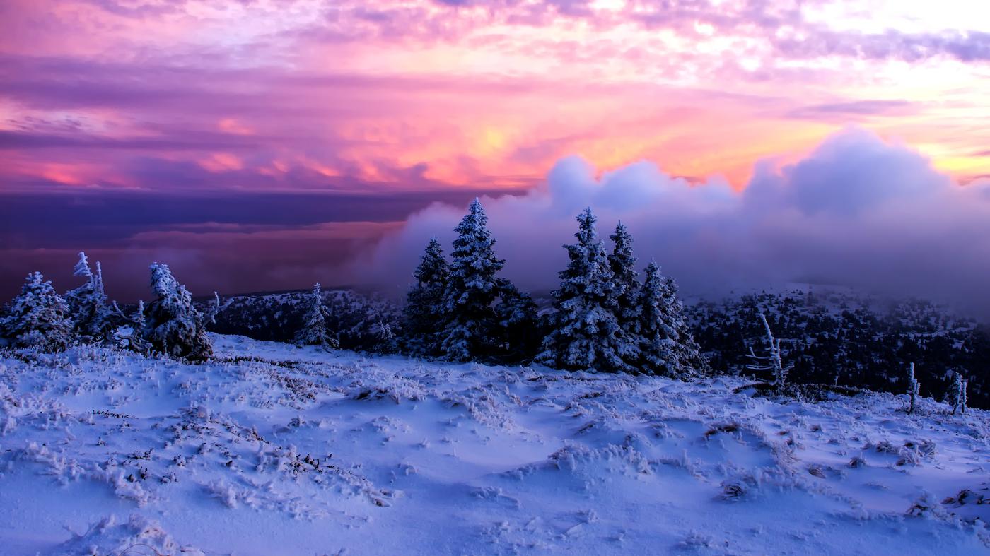 Neskutecne barvy zapadu slunce