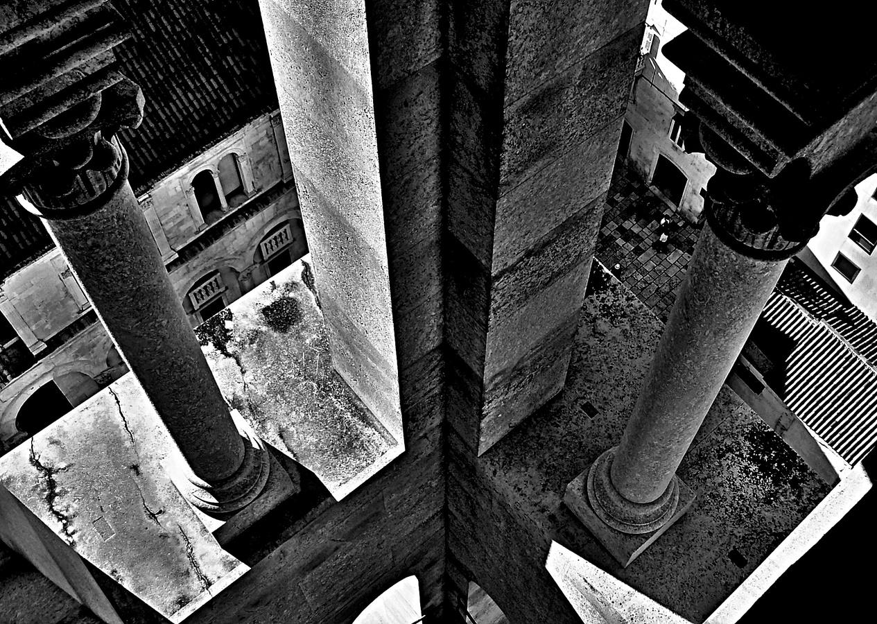 Pohled z věže  Diokleciánova paláce ve Splitu