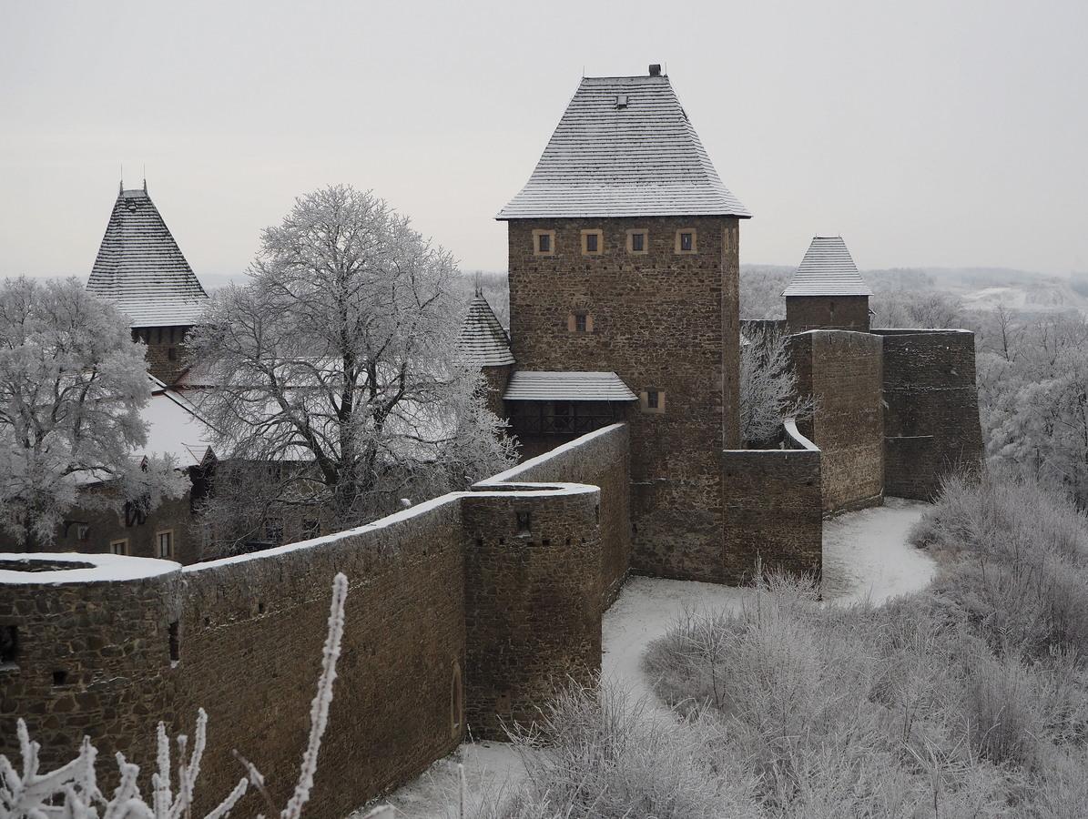 Hrad v zimním odpočiku