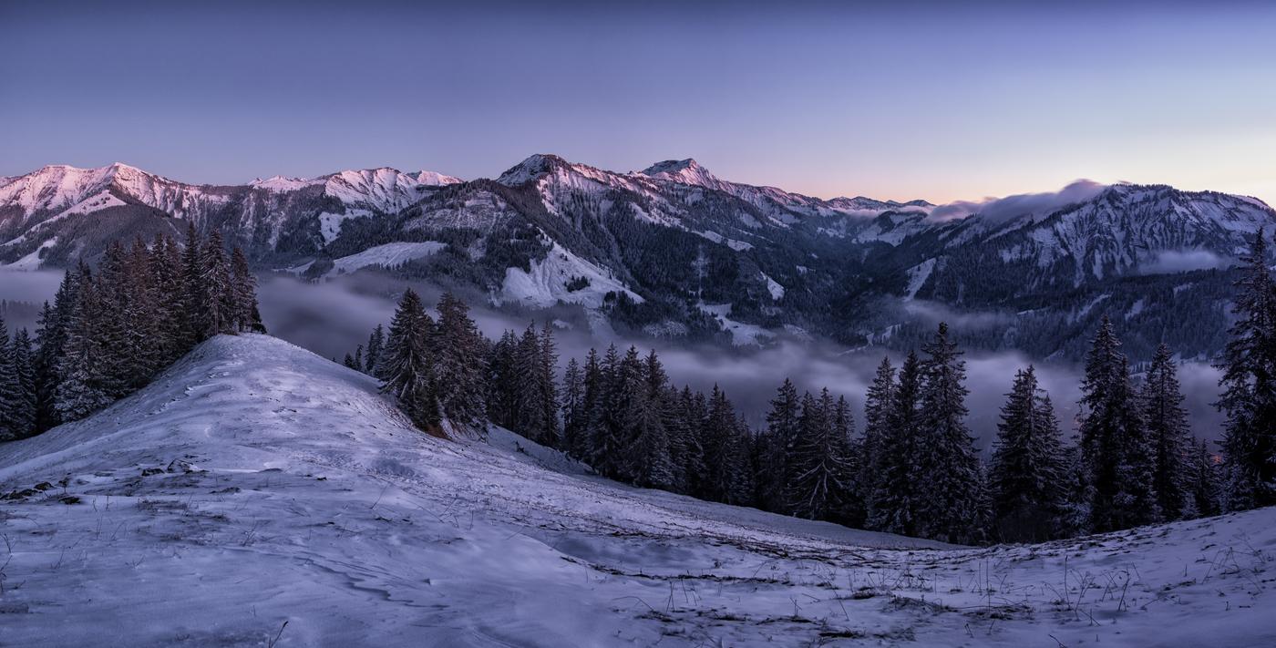 Večer v Alpách