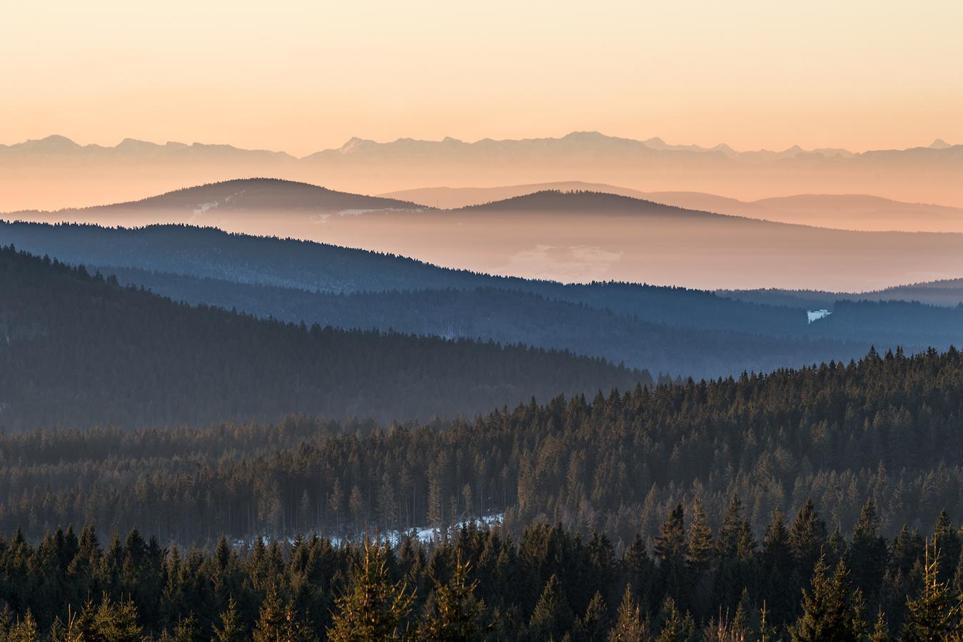 Alpy ze Šumavy...
