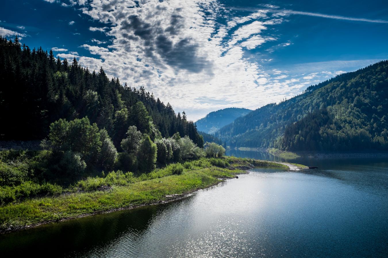 Ráno na přehradě