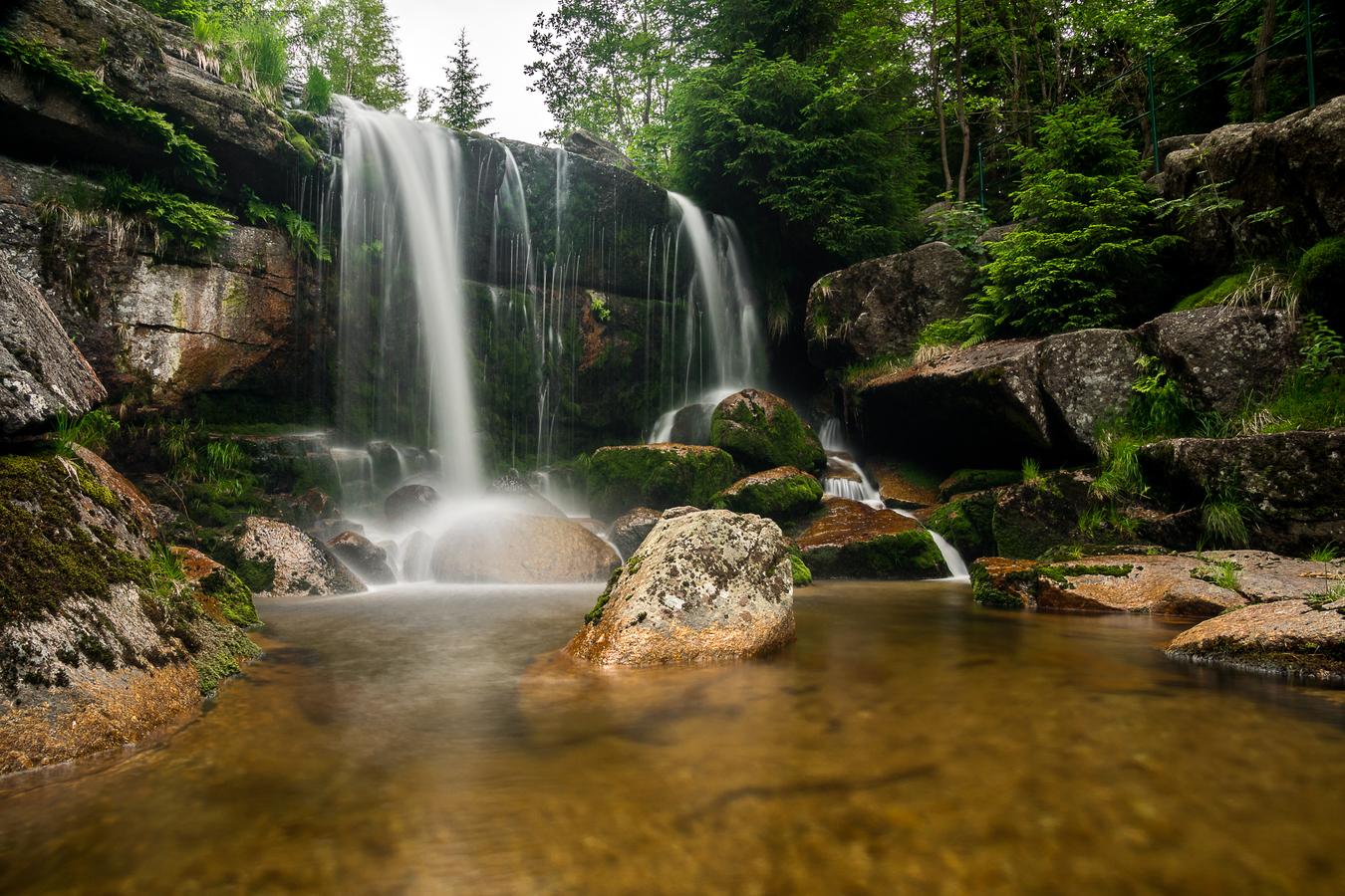 Jedlová - hlavní vodopád