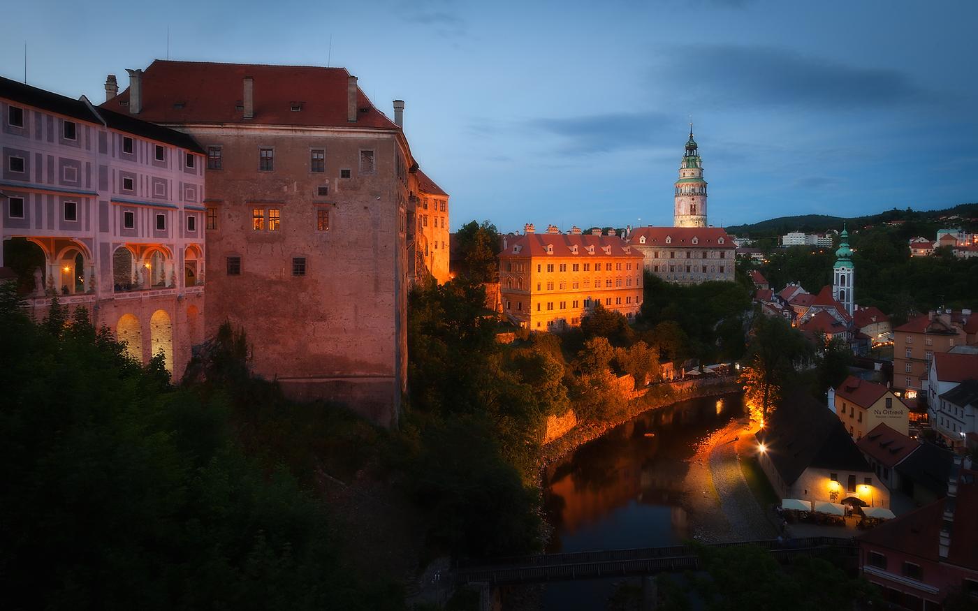 Noční Český Krumlov