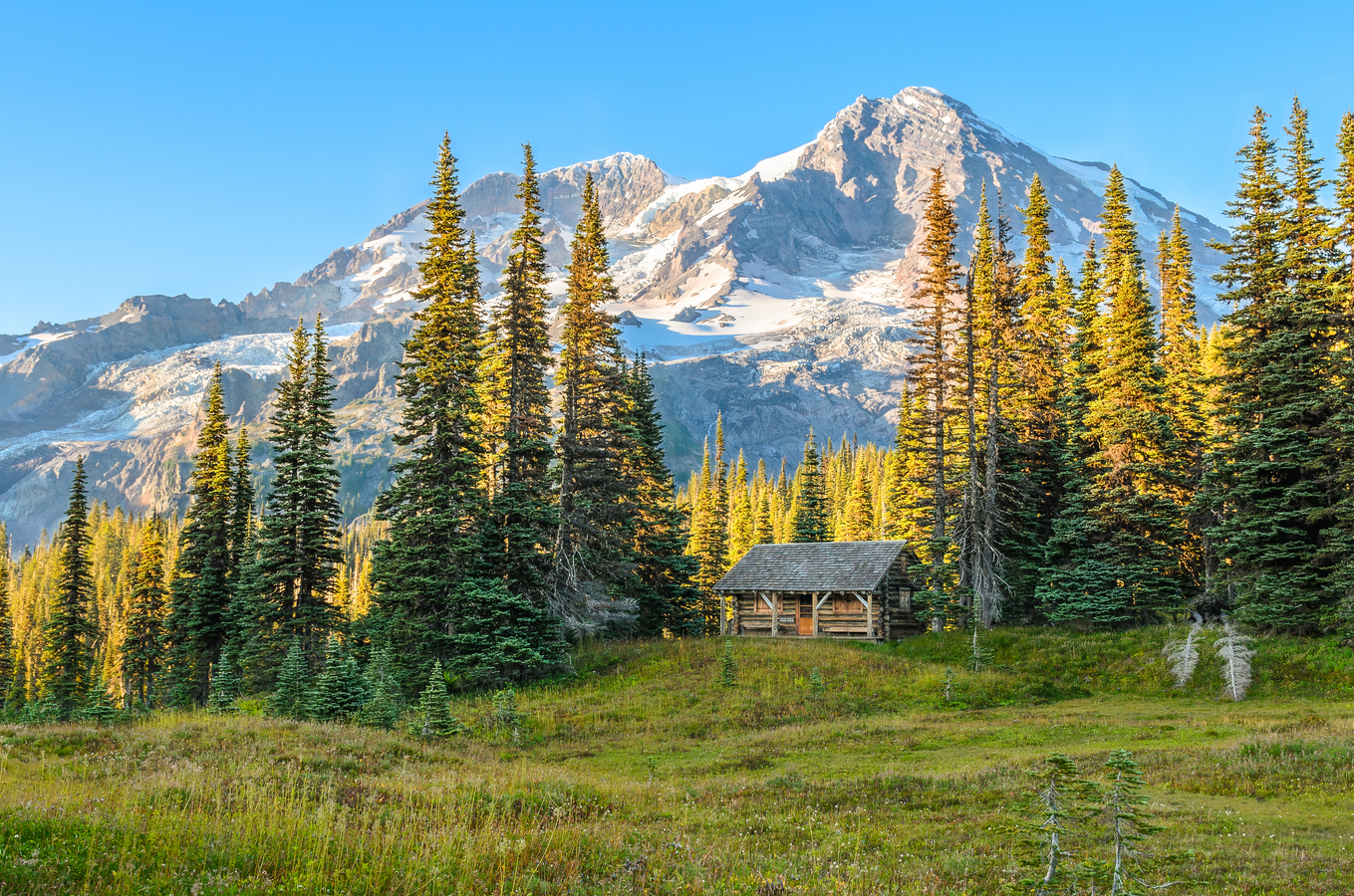 Indian Henry's Patrol Cabin - Mt. Ranier National Park, WA, USA