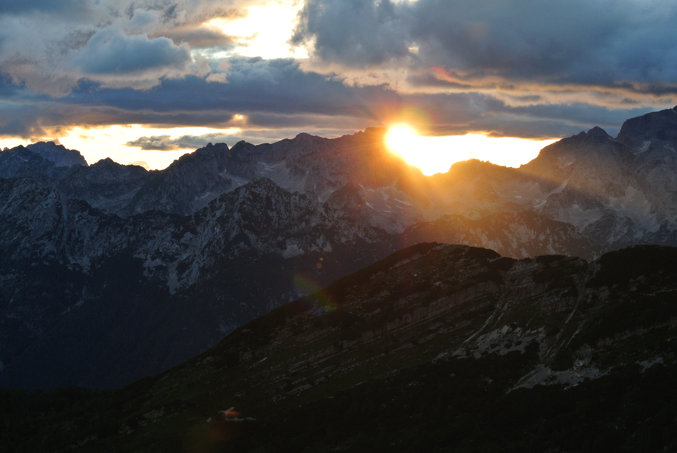 sunset from Zasavska Koča