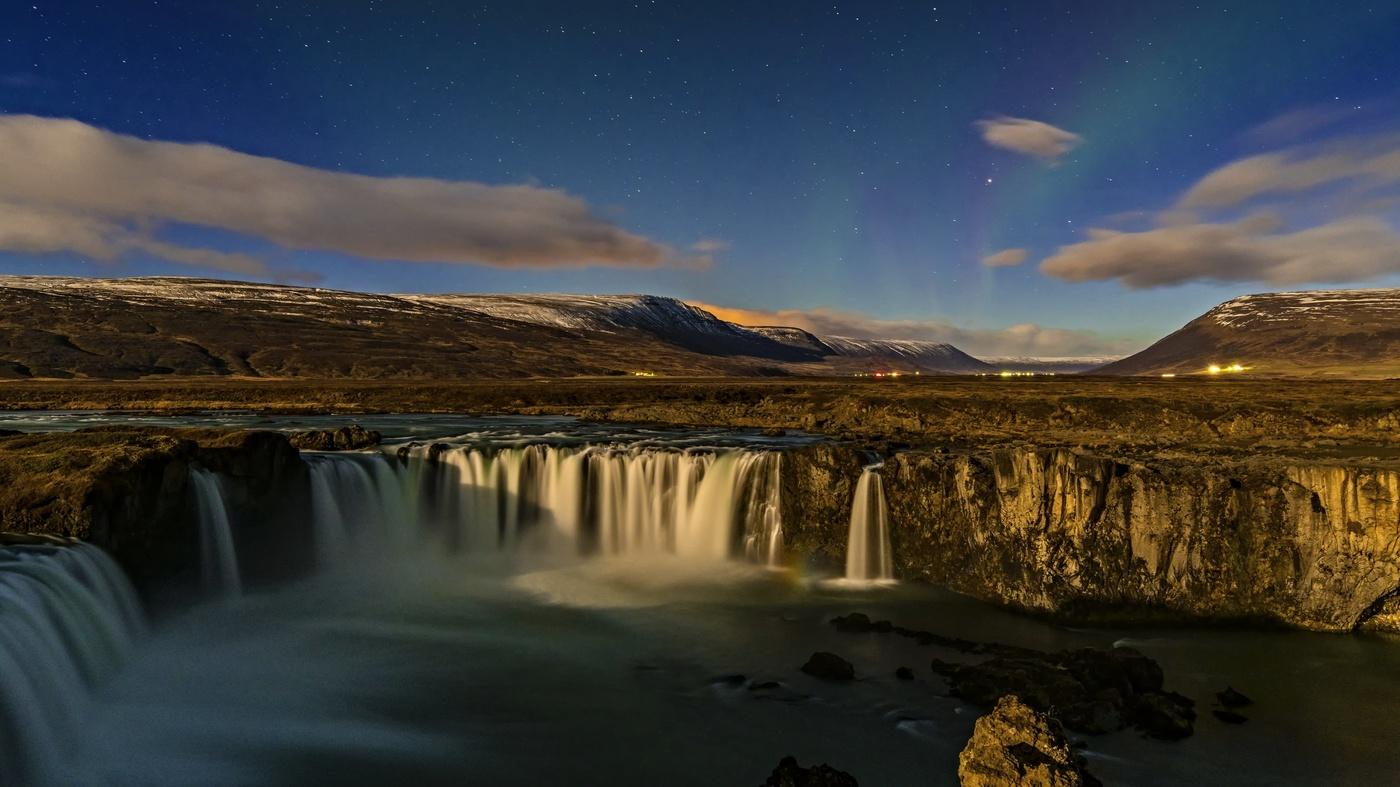 Vodopády při měsíčku