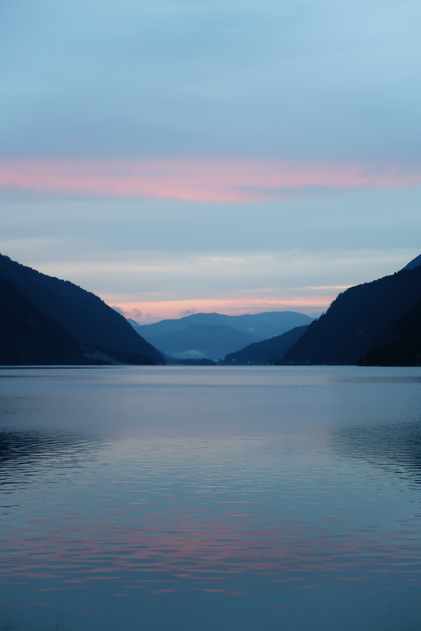 Večerní pohled na Achensee
